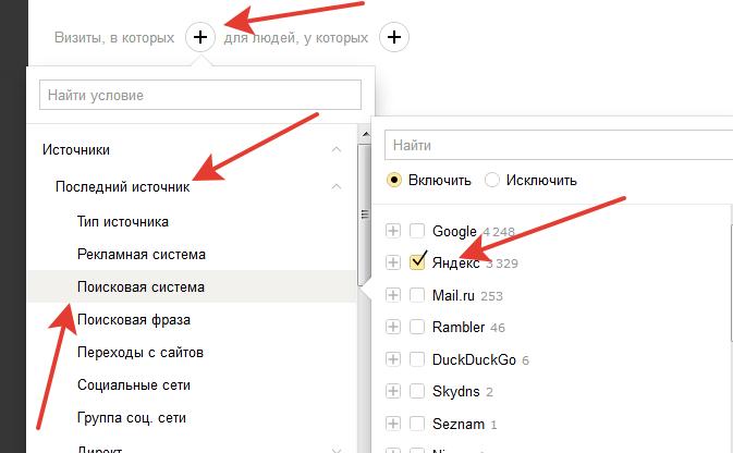 Переходы с Яндекс